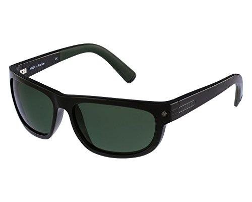 Vuarnet VL141200011121 Sunglasses Shiny Black Frame PX 3000 Grey Green Glass - Vuarnet Sunglasses Glacier