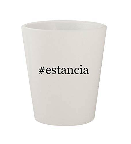 - #estancia - Ceramic White Hashtag 1.5oz Shot Glass