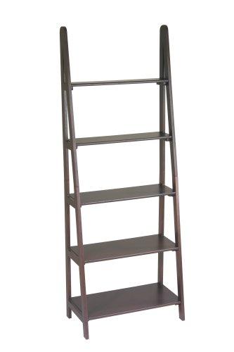 OSP Designs Ladder Bookcase, Espresso Finish