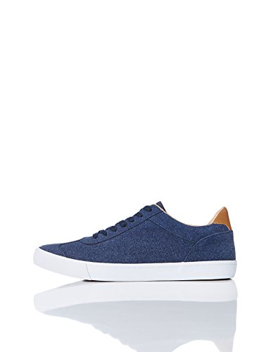 Pelle FIND Basse Navy in Blu Sneaker Uomo Scamosciata wrtnrxRCq
