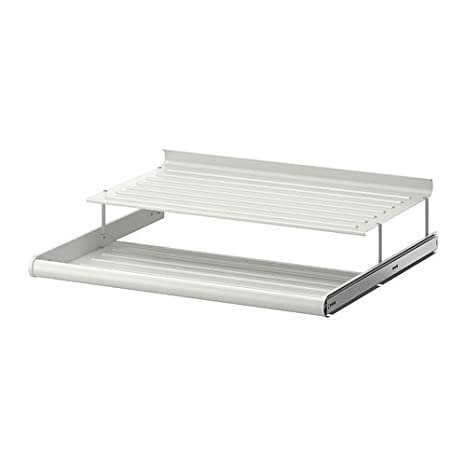IKEA KOMPLEMENT Schuhregal in weiß; ausziehbar; (75x58cm ...