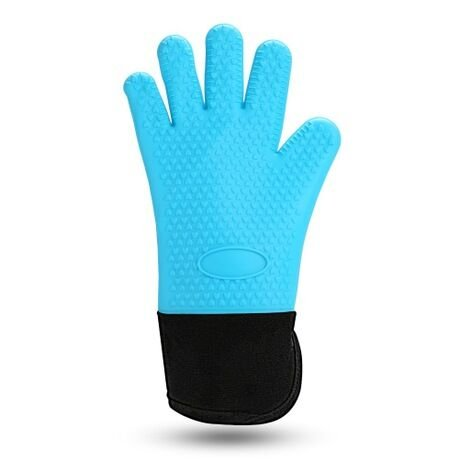 Blue Heating Oven (SuperB2C Cooking Gloves Silicone Heat Resistant BBQ Grill Oven Gloves for Cooking, Baking, Smoking & Potholder)