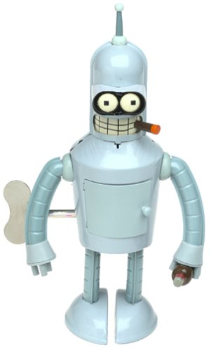 Futurama Bender Wind-up Robot Action Toy by Rocket USA
