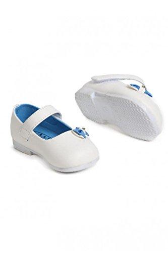 Dymastyle - Primeros Pasos de cuero Bebé - niña blanco