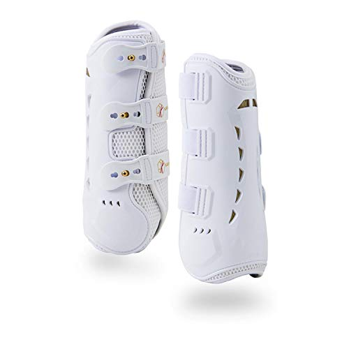 Kavallerie Dressage Boots for Horses Pro-K 3D Air-Mesh Horse Boots, Secure Leg Protection, Lightweight and Tough White…