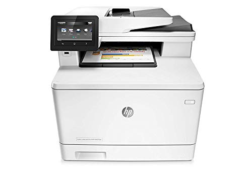 - HP Laserjet Pro M477fdn Multifunction Color Laser Printer with Built-in Ethernet & Duplex Printing (CF378A) (Renewed)