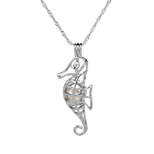 VWH Halloween Xmas Gifts Pearl Owl Pendant Necklace -