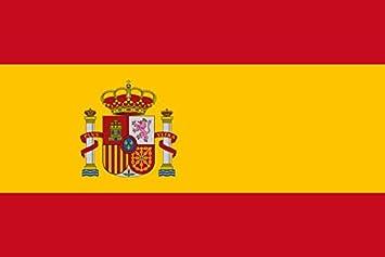 España Bandera del 91, 44 cm x 60, 96 cm - medio 100% poliéster - ojales de Metal - doble costura: Amazon.es: Jardín