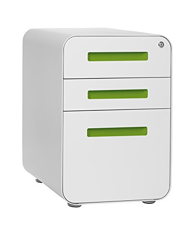 (ローラデビッドソン) Laura Davidson ストックパイルファイルキャビネット B015AS67V2 White/Light Green