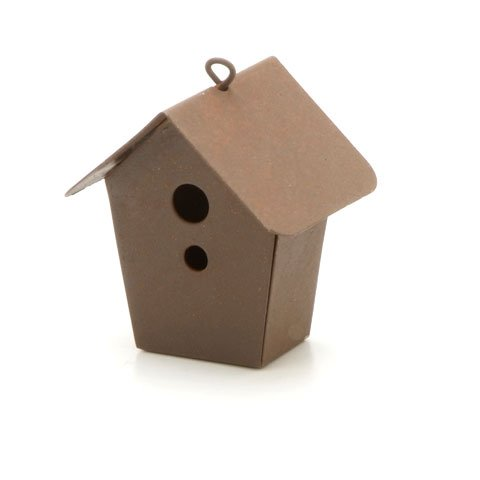 Miniature Rustic Tin Birdhouse (Miniature Tin)