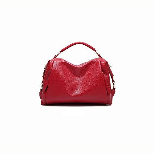 Zijieshiye rétro Sac couleur similicuir un bandoulière motif en Gris 28 13 synthétique Sac en à Rouge Taille 18cm cuir simple avec Femme AXqrwA