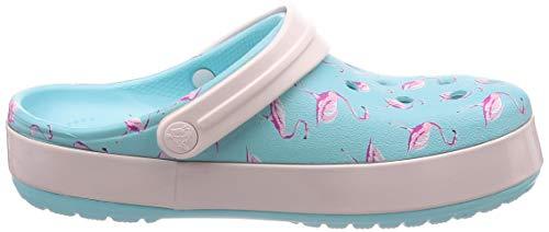 Crocband Seasonal Blue Clog Ice Pink Crocs Graphic 1qOCww6