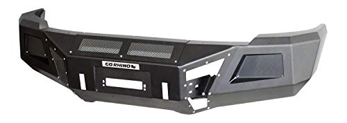 - Go Rhino 24169T Textured Black Powder Coat Finish Front Replacement Bumper (BR10)