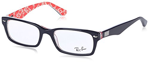 Ray-Ban Men's RX5206 Rectangular Eyeglasses,Top Black & Texture Red,52 - Ban Ray Top
