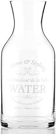 Jarra Vintage de cristal transparente – Botella Retro para agua, zumo de fruta Déco: Amazon.es: Electrónica