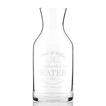 Jarra Vintage de cristal transparente - Botella Retro para agua, zumo de fruta Déco: Amazon.es: Electrónica