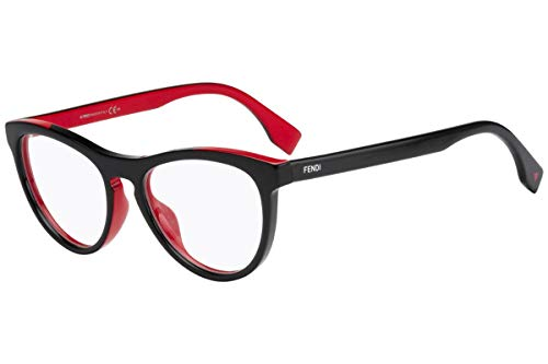 Fendi FF0123 Eyeglasses 51-17-140 Black Red w/Demo Clear Lens MFQ FF 0123