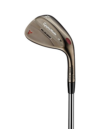 TaylorMade Golf Milled Grind Bronze Finish Standard Bounce 56 Degree Loft 12 Degree Bounce Wedge, Left Hand