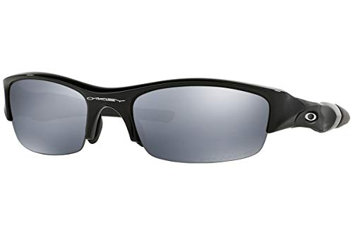 (Oakley Asian Fit Flak Jacket Jet Black/Light Grey Polar )