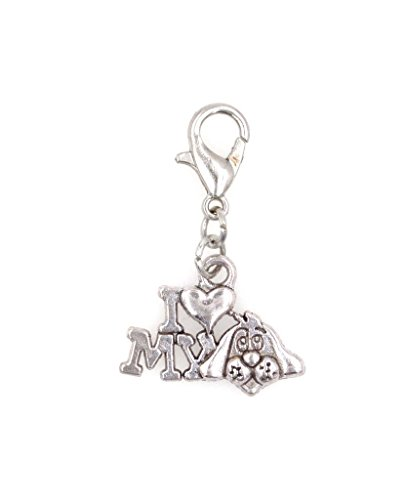 It's All About...You I Love My Dog Clip On Charm Perfect Necklaces Bracelets 97U