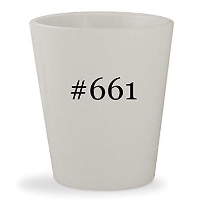 #661 - White Hashtag Ceramic 1.5oz Shot Glass
