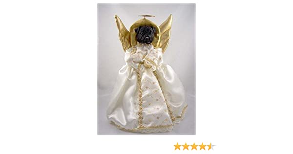 Black Pug Angel Christmas Tree Topper: Amazon.ca: Home & Kitchen