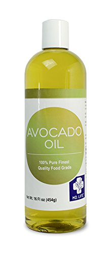 Save $$ MD LIFE Avocado Oil  100% Pure Cold-Pressed Avocado Oil  Organic, Food Grade Avocado Oil for Cooking  Avocado Oil for Hair and Skin  16 Oz Compare to NOW Foods Avocado Oil