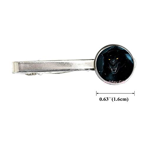 Wolf Tie Clip Howling Wolves Animal Jewelry Full Moon Art Tie Pin,Wolves Gift for Women Handmade.HTY-046