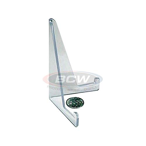 Acrylic Card Stands by BCW - Set of 10 Picture Display Stands - Crystal Clear Transparent Mini Easel - Durable & Sturdy Design - Ideal for Home Display, Office, Shop, Special Events