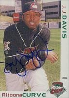 J.J. Davis Altoona Curve - Pirates Affiliate 2002 Grandstand Autographed Card - Minor League Card. This item comes with a certificate of authenticity from Autograph-Sports. Autographed