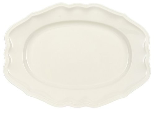 Manoir Oval Platter by Villeroy & Boch - Premium Porcelain - Made in Germany - Dishwasher and Microwave Safe - 14.5 Inches