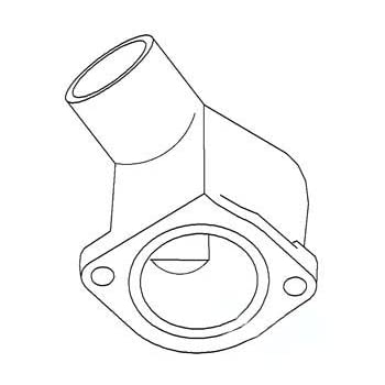 Amazon Com Ford New Holland Thermostat Housing Part No A C7nn8594b