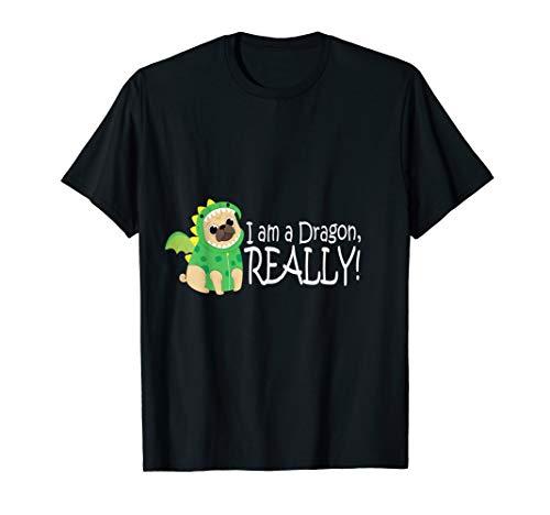 Dragon Dog Shirt Pug In Dragon Costume T-Shirt Men Women ()