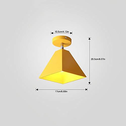 BDYJY ® Plafonnier à Angle réglable créatif Moderne Salon allée d'escalier Chambre Chevet Mavoitureons Petite Lampe Murale Parapluie Noir (Couleur  Jaune)