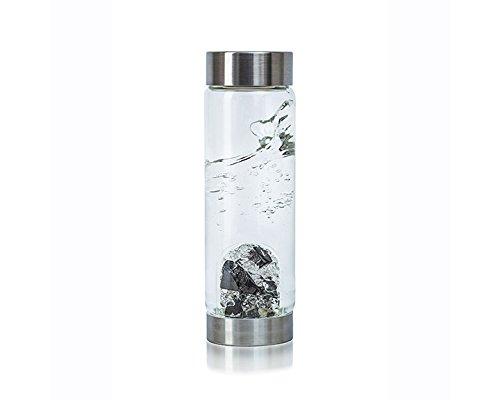 Visions VitaJuwel Gemstone Water Bottle with Shungite and Clear Quartz by Zinzeudo