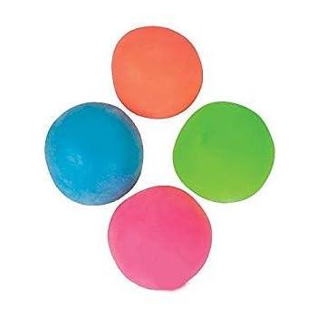 4 Pull and Stretch Stress Relief Ball Red, Blue, Green, Orange, 4E's Novelty + bonus sticker
