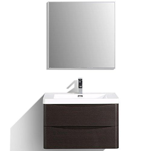 Bathroom Vanity Double Sink Chest - Eviva EVVN760-30CHNT-WM Smile 30