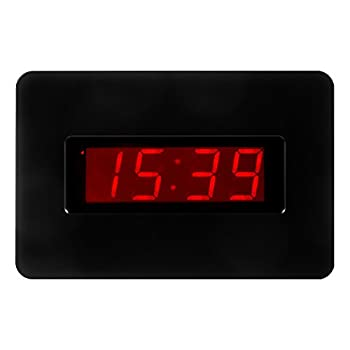 Kwanwa Digital Wall Clock Battery Operated Only with Large 1.4'' Red LED Number Display,Can Be Placed Anywhere Without A Cumbersome Cord