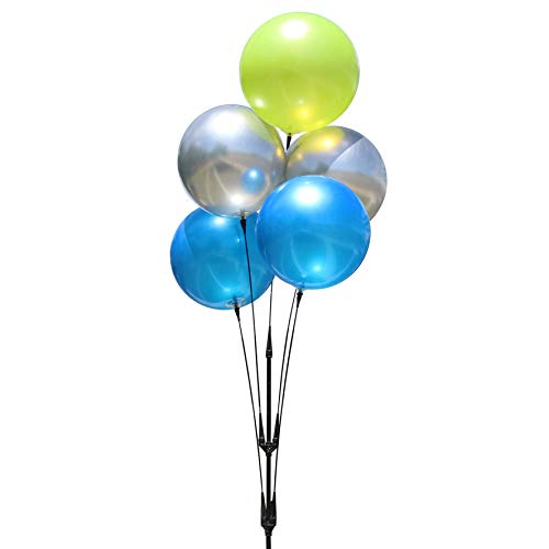 DuraBalloon - Weatherproof Reusable Balloon Cluster Pole Kit - Helium Free Plastic Outdoor Balloons -