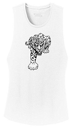 (Comical Shirt Ladies Festival Tank Top Running Jaguar Tiger White)