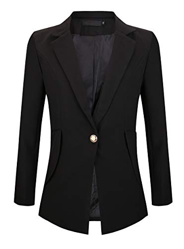 SHUIANGRAN Women's Slim Fit Business Blazers Casual Office Jackets Black US 12 (tag Asian 4XL)