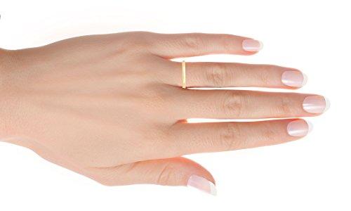 DiamondMuse 2 mm Plain Wedding Band in 10K Yellow Gold (9) by DiamondMuse (Image #3)