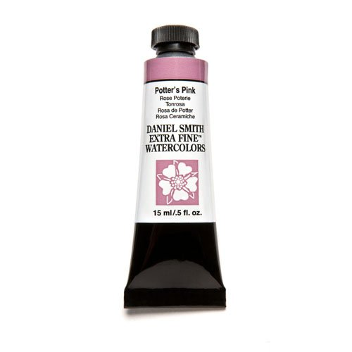 Daniel Smith Extra Fine Watercolor 15ml Paint Tube, Potter's Pink (Genuine Pink Rose)