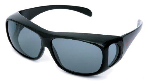 コールマン メガネの上から掛けられるオーバーサングラス 偏光レンズ ブラック CO3012-1の商品画像