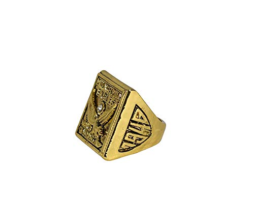 PHILADELPHIA EAGLES (Vintage) 1949 NFL CHAMPIONSHIP GAME WINNERS (Second Consecutive Champs) Rare Collectible Replica Gold Football Championship Ring with Cherrywood Display Box