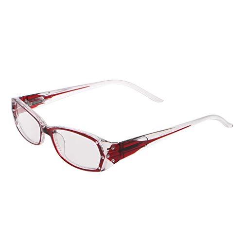 chuwa Reading Glasses Women Fashion Lady Inlaid Rhinestone Blue Light Blocking Eye Glasses Diopter +1.0 ~ +4.0 (Big Fashion Lesebrille)