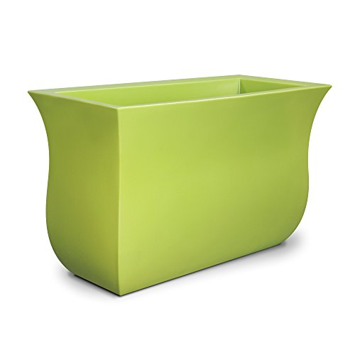 Mayne 5875-MG Polyethylene Planter, Macaw Green by Mayne
