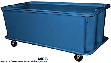 Blue Glass Fiber Reinforce Plastic Composite with Wire Edge 42.5 x 20 x 14.25 Capacity 500 lb Toteline 780008W5268 Nest and Stack Container
