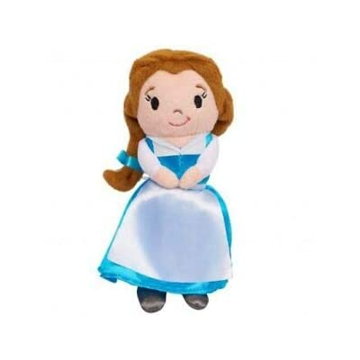 Disney Princess Belle Beauty and The Beast 6 Soft Plush Doll Blue Dress: Toys & Games