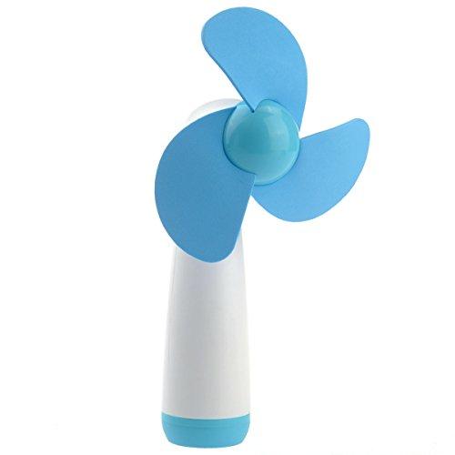 Tinksky YGH365B batteriebetriebener Handheld Mini Fan der Weichschaum-Blades Lüfter (blau)